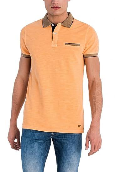 Salsa Polo Hombre De Color Lavado M Naranja: Amazon.es: Ropa y ...