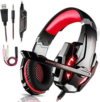 Igrome Auriculares Gaming PS4,Cascos Gaming de Mac Estéreo con ...