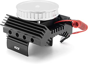 KYX Racing Alloy Motor Heatsinks & Cooling Fan for RC Crawler Car Axial SCX10 II 90046 Wraith D90 Traxxas TRX4 540/550 Motor Accessories