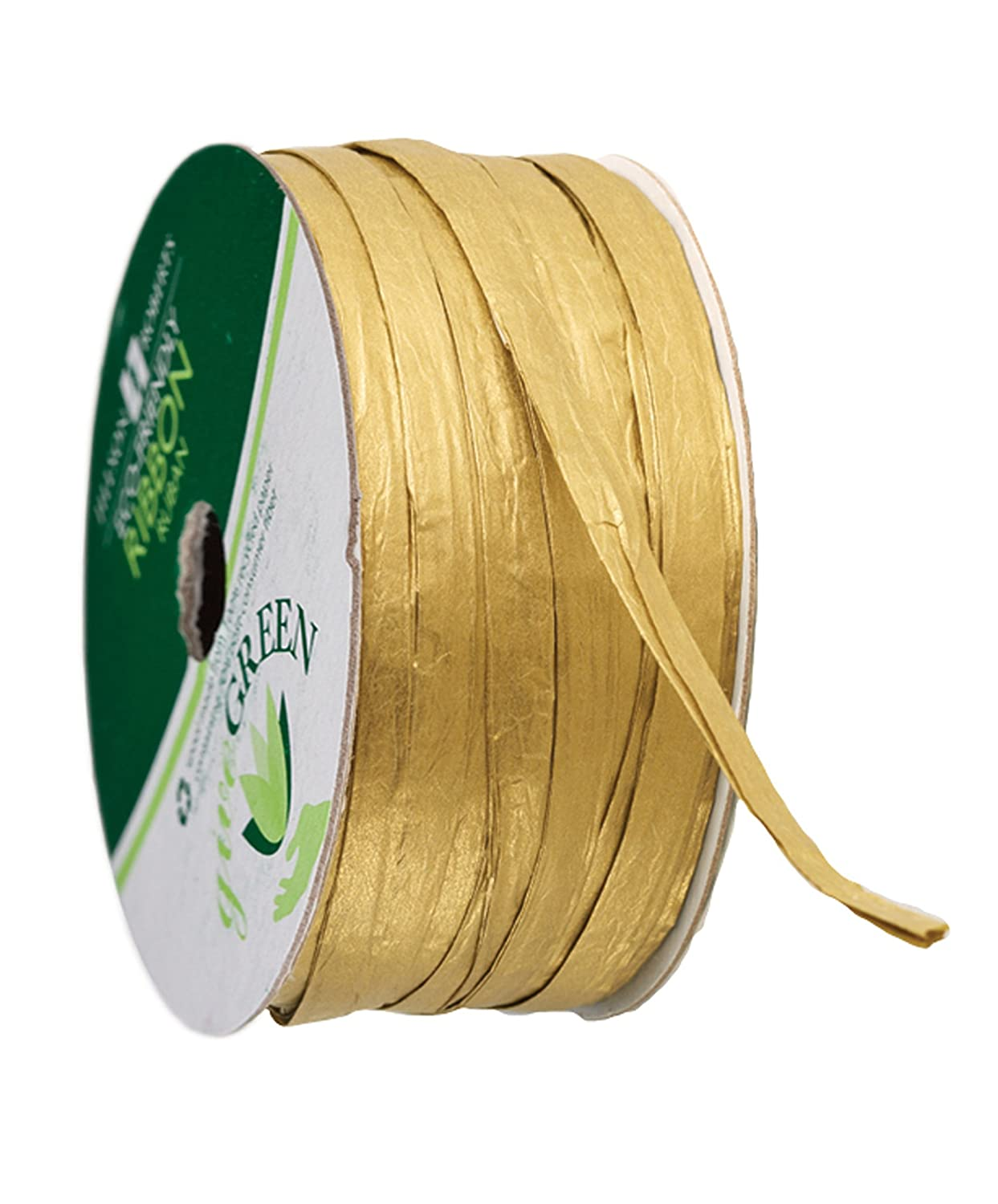 Jillson Roberts 6-Spool Count 1/4' x 50' Recycled Paper Raffia Available in 16 Colors, Natural PR18B