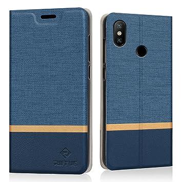RIFFUE Funda Xiaomi Redmi Note 6 Pro, Carcasa Delgada Libro de Cuero con Tapa Cartera de Ranura y Billetera Elegante Case Cover para Xiaomi Redmi Note ...