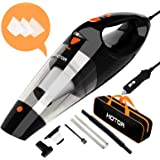 Car Vacuum, HOTOR Corded Car Vacuum Cleaner High Power for Quick Car Cleaning, DC 12V Portable Auto Vacuum Cleaner for…