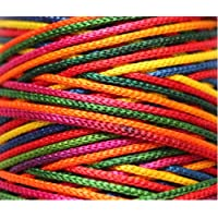 Jo'S Multi-Colored Nylon 1Mm Macrame Cord (125 Meters) 4 Ply Nylon Chinese Knotting Poly Propylene Cord For Macrame (Approx - 85 Grams)