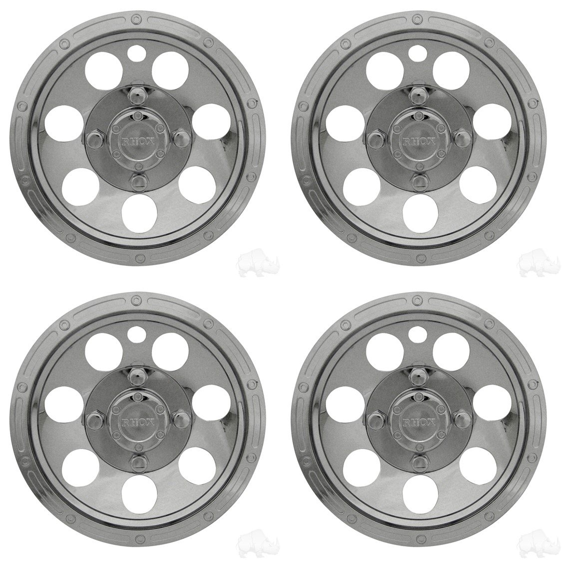 WHEEL COVER, 10'' RALLY CHROME by Best Turf WestNL