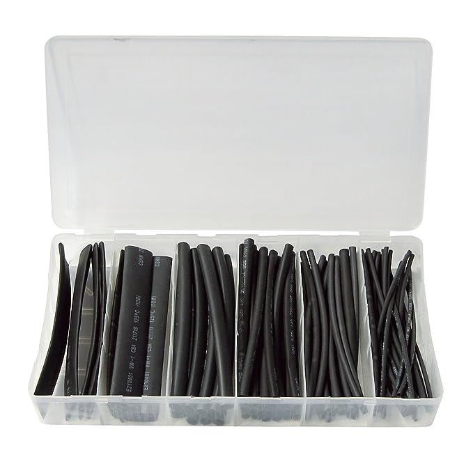 23 opinioni per Radiostore- Set di guaine termorestringenti, 100 pezzi, colore: Nero