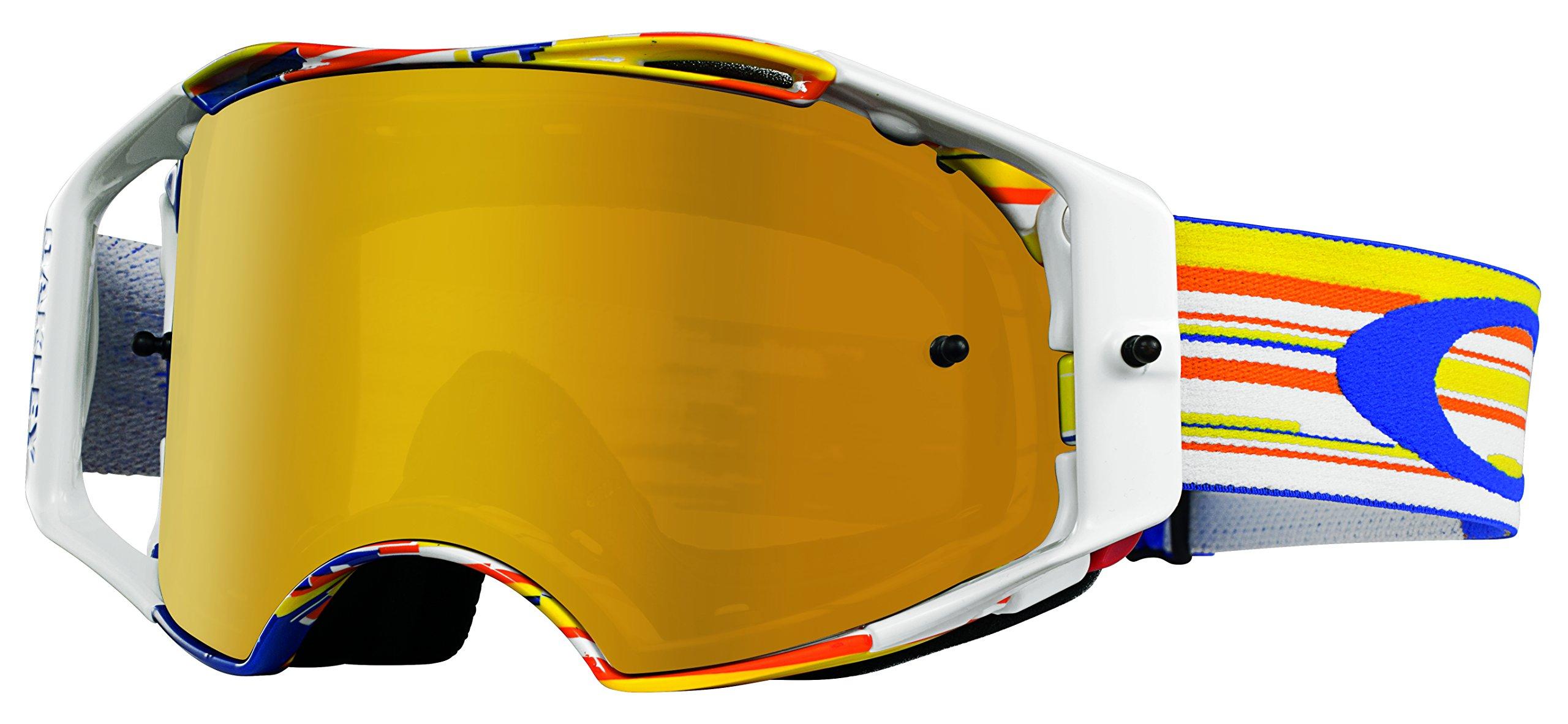 Oakley Airbrake MX Glitch BOG Goggles (White Frame/Fire Iridium Lens)