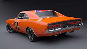 42x24 Poster: Dodge Charger General Lee Muscle Car American Car Duke of Hazzard Transportation Iconic Car