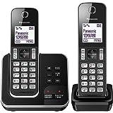 Panasonic KX-TGD322EB Cordless Home Phone with Nuisance Call Blocker and Digital Answering Machine - Pack of 2