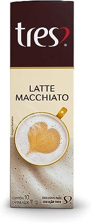 Cápsulas de Café com Leite Latte Macchiato  Três, Compatível com Três, Contém 10 Cápsulas
