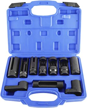 5-Pieces Oxygen Sensor Socket Wrench and Thread Chaser Set