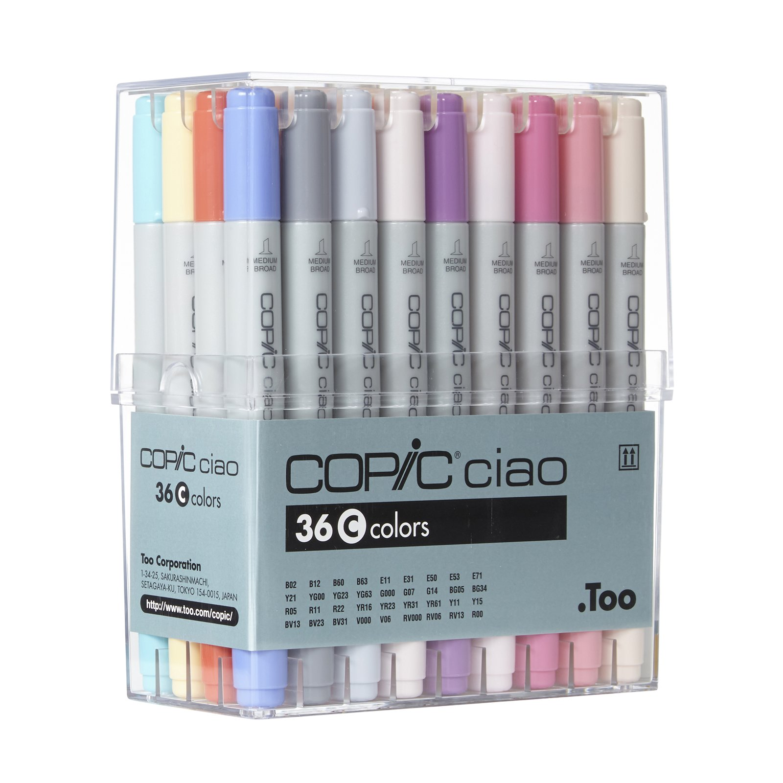 Copic I36C Ciao Markers Set C, 36-Piece