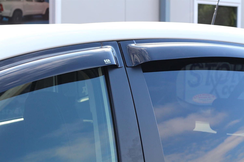 Reg AUDI Q3 2011-2015 EGR QUAD WIND DEFLECTORS 4-PCS - DARK SMOKE