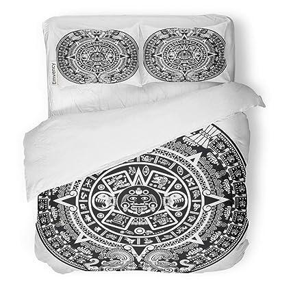 5d3a6b8683c3 Semtomn Decor Duvet Cover Set King Size Maya Aztec Calendar Inca Mexican  Mexico Culture Clip Cartoon