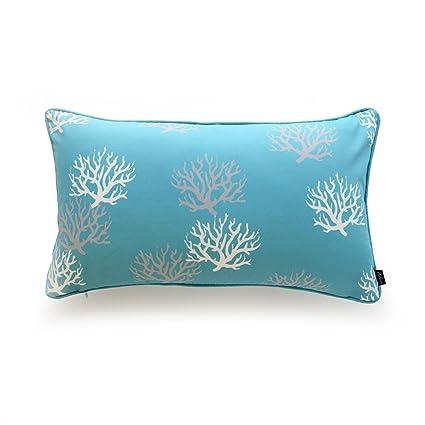 Amazon Hofdeco Decorative Lumbar Pillow Cover OUTDOOR WATER Unique Decorative Outdoor Lumbar Pillows