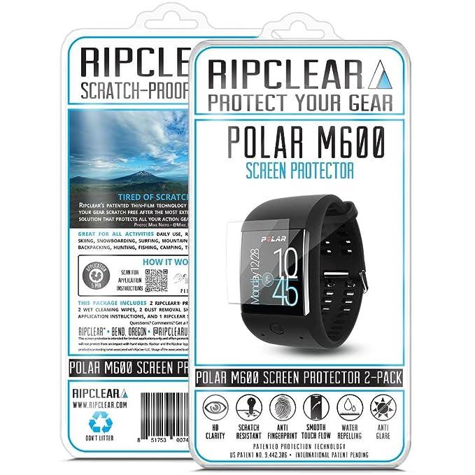 b674bf885b Amazon.com  Ripclear Polar M600 Smartwatch Screen Protector Kit ...