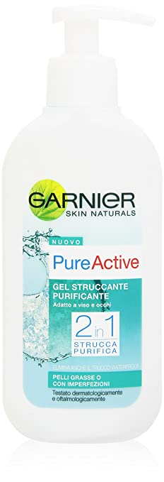 12 opinioni per Garnier Pure Active Gel Struccante Purificante 2in1 per Pelli Grasse o con