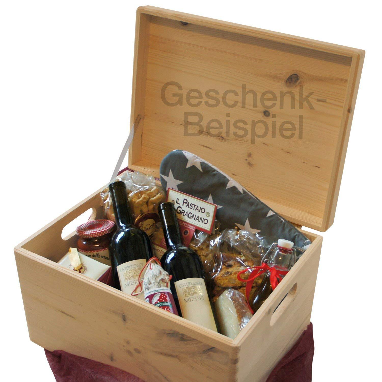Zeller 13152 - Caja multiusos con tapa, plana, madera de conífera (40 x 30 x 24 cm): Amazon.es: Hogar