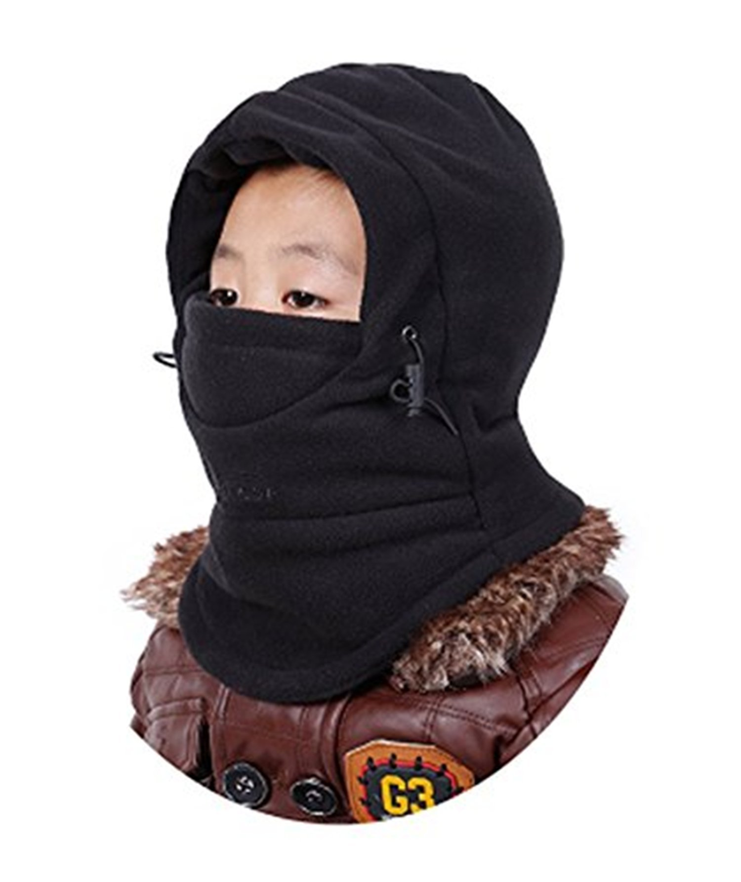 ZZLAY Children's Balaclavas Hat Thick Thermal Windproof Ski Cycling Face Mask Caps Hood Cover Adjustable Cap
