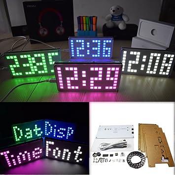 sansido bricolaje 4 dígitos LED kit reloj electrónico gran pantalla DS3231 electrónica DIY Kit de matriz ...