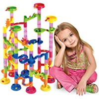 Marble Run Set 105 Pcs -Marble Maze Game Construction Building Toy Creative STEM Toy for 4 5 6 7 Year Girls and Boys