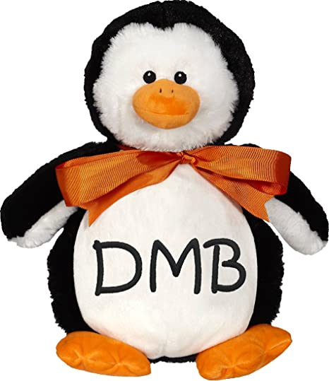 Amazon Com Personalized Stuffed Penguin With Embroidered Initials