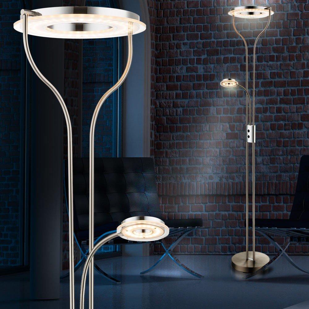 225 Watt LED Flexo Stehlampe Deckenfluter Stehleuchte Fluter Leselampe Globo 59038N Amazonde Beleuchtung
