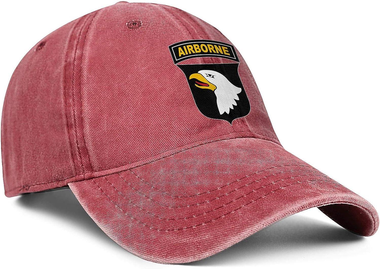 NAKHFBVi Unisex ManFashion Denim Dad Hat Sanpback 82nd-Airborne-Division Cycling Baseball Hat