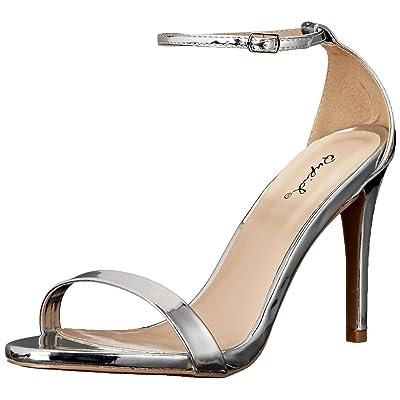 Qupid Women's Grammy-01 Dress Sandal | Heeled Sandals