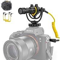 Deity V-Mic D4 Mini compacte microfoon voor op de camera met Rycote Lyre Shock Mount, plug-and-play microfoon voor DSLR…