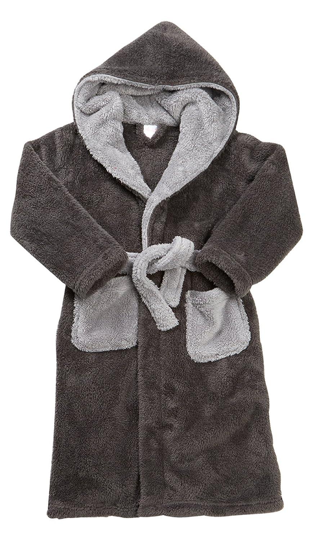 Strong Souls Boys Fleece Hooded Dressing Gown Football 11322