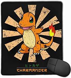 Poke-mon Charmander Retro Japanese Mouse Pad Laptop Office Supplies Gaming Mouse Pad Fit Desktop Personal Computer Console