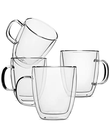 09fb2859083 BTäT- Insulated Coffee Mug, Coffee Glass, Set of 4 (16oz, 500ml