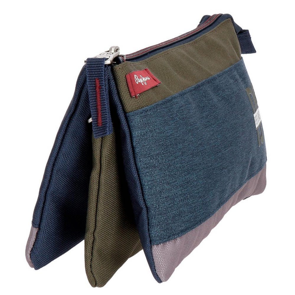 Estuche Pepe Jeans Trade tres compartimentos