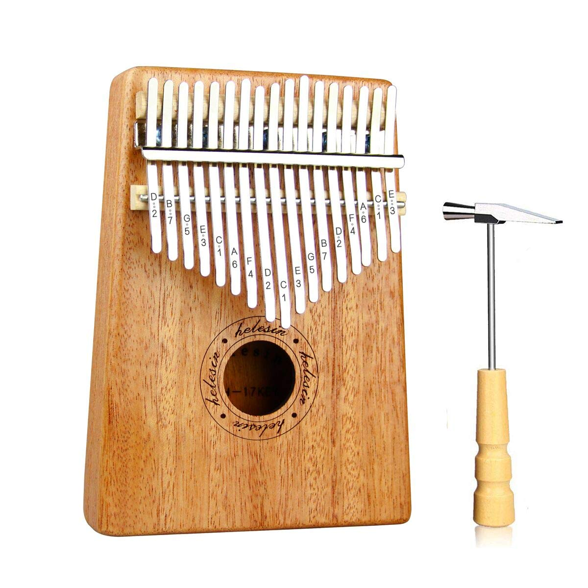 Kalimba,17 Key Kalimba Thumb Piano,Mahogany Wood Music Instrument Finger Piano with Tuning Hammer for kids Adult Beginners,Best Gifts Ideal for Friend, Family, Lover (C Tone) Mbira