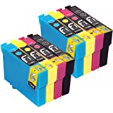 8 Epson T1295 Compatible Printer Ink Cartridges To Replace Epson Stylus SX230, SX235W, SX420W, SX425W, SX435W, SX445W, SX525WD, SX620FW and Epson Stylus Office B42WD, BX305F, BX305FW, BX305FW Plus, BX320FW, BX525WD, BX535WD, BX625FWD, BX635FWD, BX925FWD, BX935FWD, Printers, Ink Cartridges 2x T1291, 2x T1292, 2x T1293, 2x T1294 These Cartridges Holds 4x More Ink Than Other Compatibles High Capacity Ink Cartridges