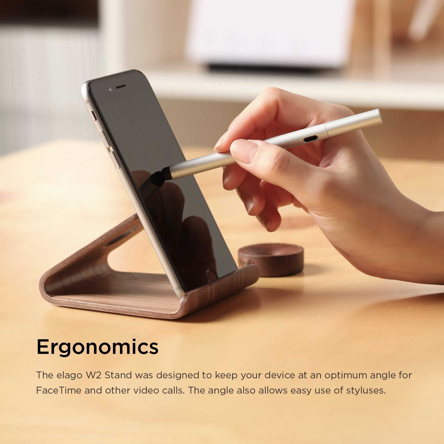 the wooden dock desk usb phone smartphone stand laser product tidy holder iphone boutique mobile for