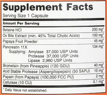 NOW Foods Super Enzymes, 180 Capsules: Amazon.es: Belleza