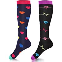 Compression Socks Women Knee High 15-20 mmHg for Sports, Running, Nurses, Maternity, Pregnancy, Travel