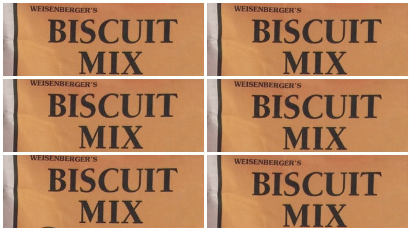 Weisenberger Mills Just Add Water Buttermilk Biscuit Mix - A Ky Proud Product 5.5 Oz Ea Pack of 6