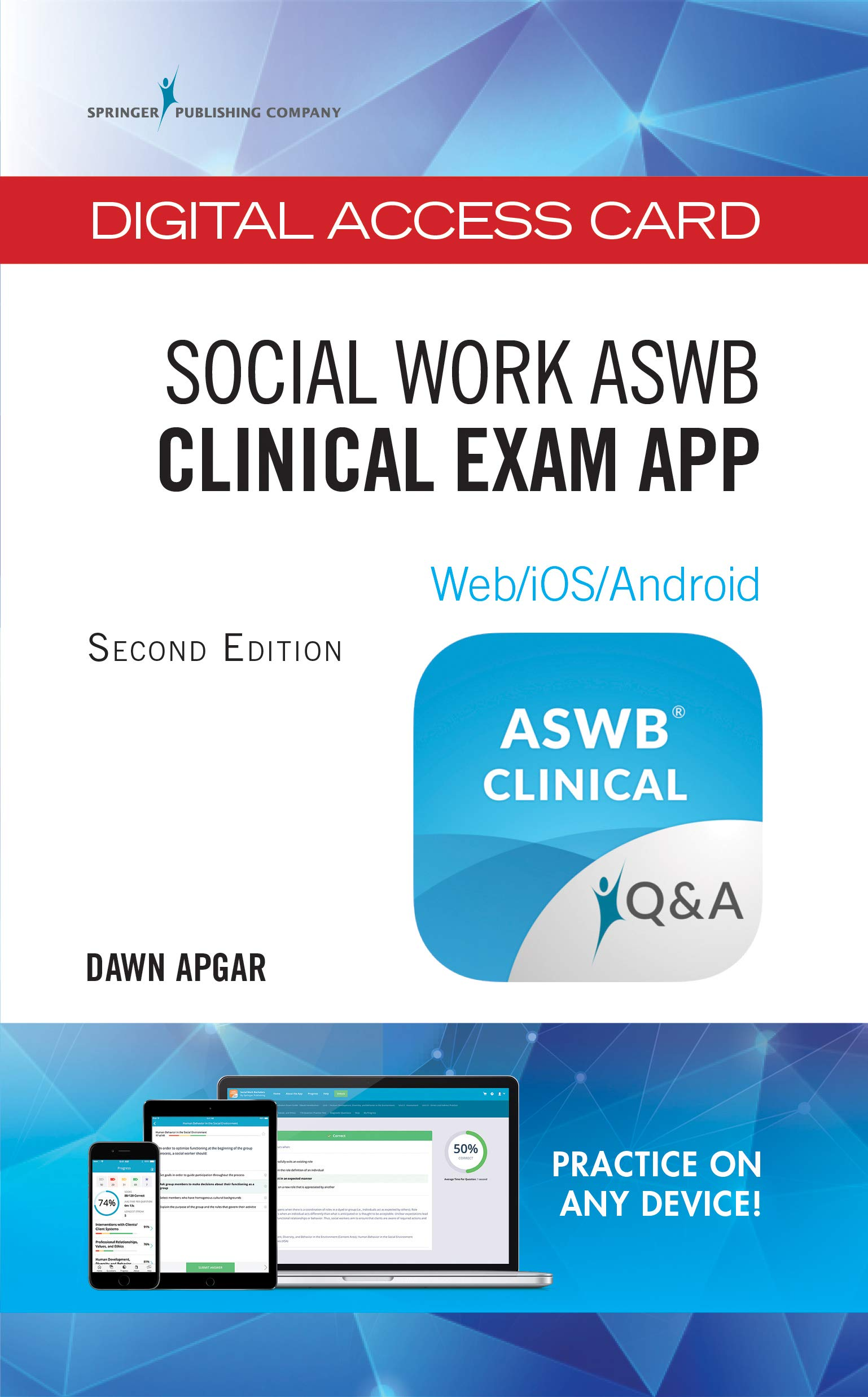 Social Work ASWB® Clinical Exam App - Digital Access Card: Web/iOS