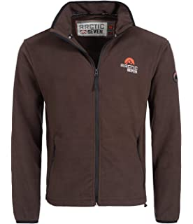 PEARL outdoor Fleecejacke: Fleece Jacke mit Kapuze für