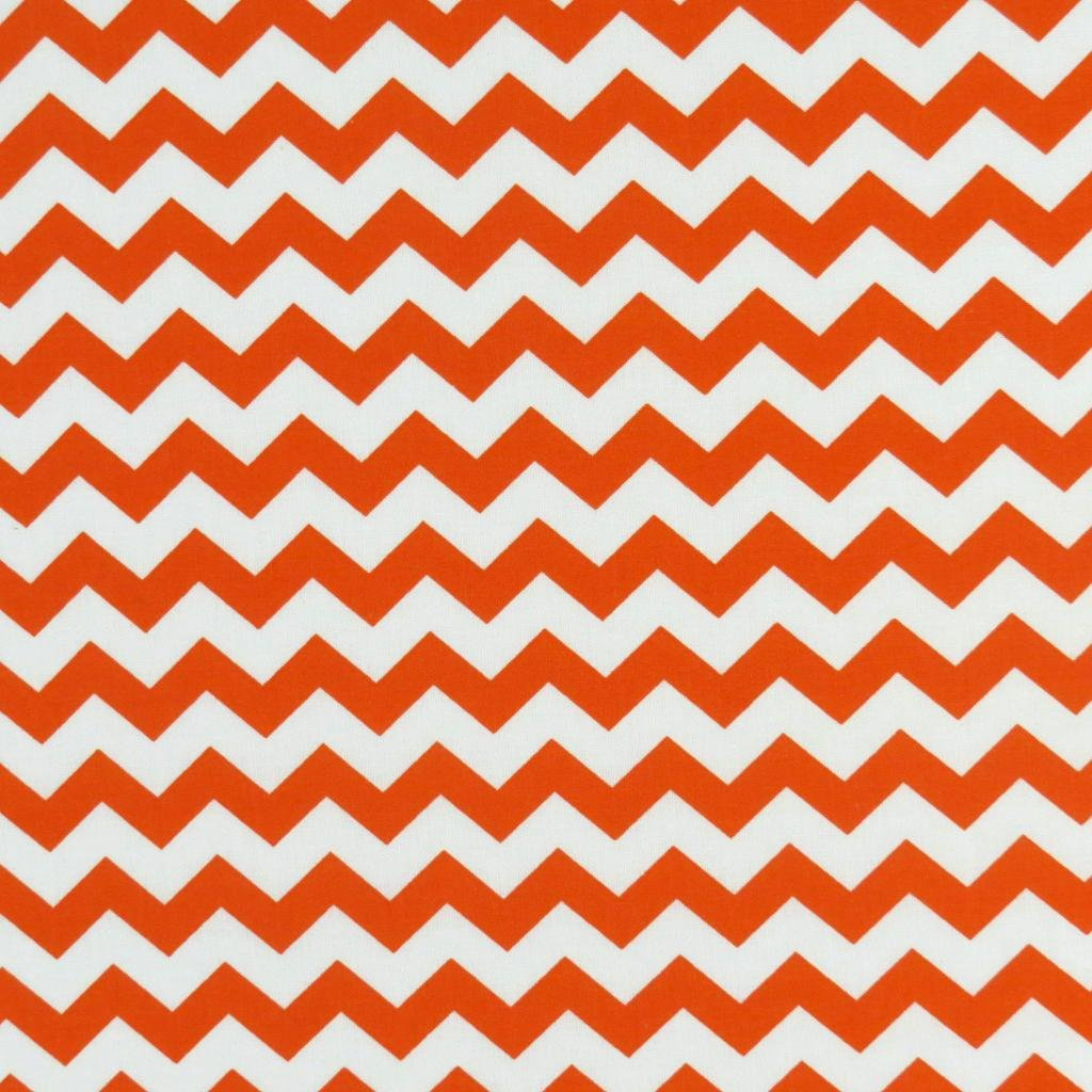 SheetWorld Fitted Pack N Play (Graco Square Playard) Sheet - Orange Chevron Zigzag - Made In USA