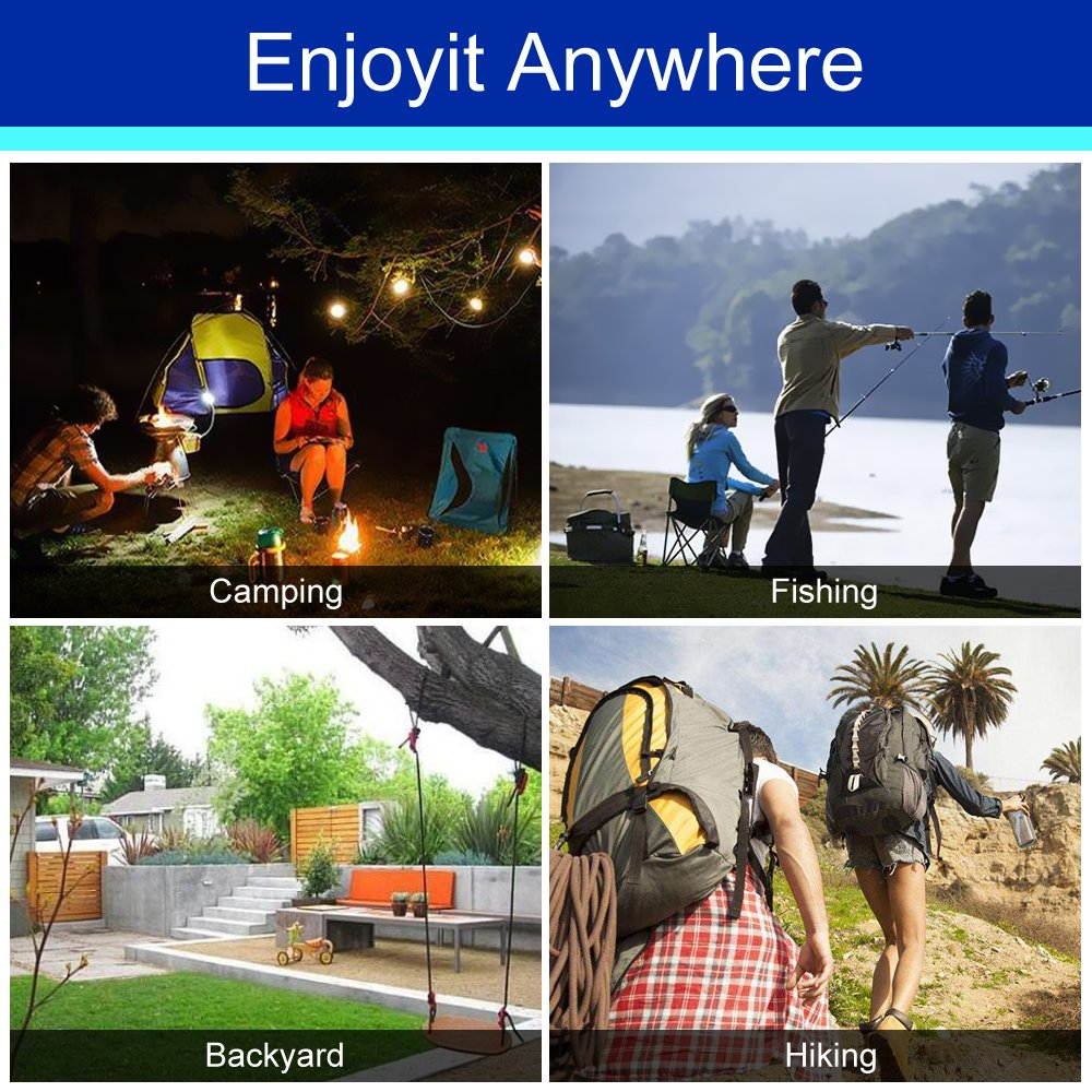 [3 IN 1] Camping Hammock for 2/Double Person with Mosquito Net & Sunshade Cloth & Tree Strap,AYAMAYA Portable Parachute Nylon Lightweight Big Pop Up Swing with Bug/Insect Netting for Backpacking Sleep by AYAMAYA