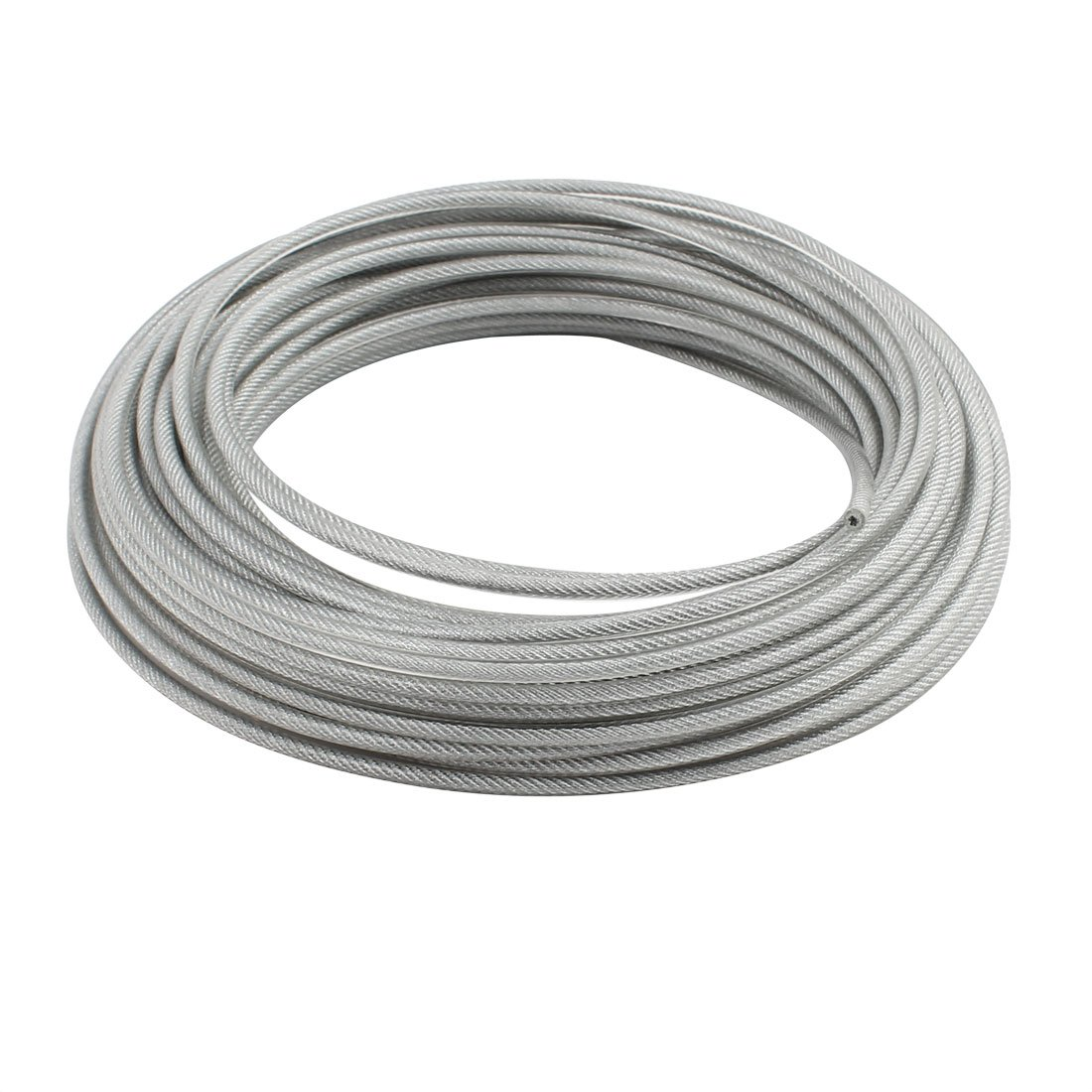 uxcell 4mm Diameter Vinyl Coated Wire Rope Aircraft Cable 20 Meters Length