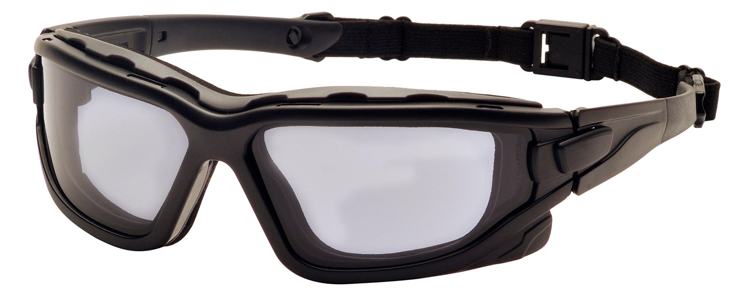 Pyramex I-Force Sporty Dual Pane  Anti-Fog Goggle,Black Frame/Gray Anti-Fog Lens