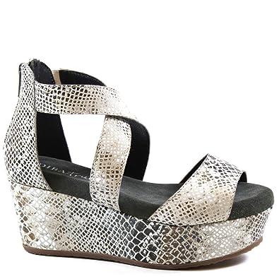 a01eff8418 Amazon.com | Diba True Busta Move, Snake Platform Wedge Sandal | Sandals