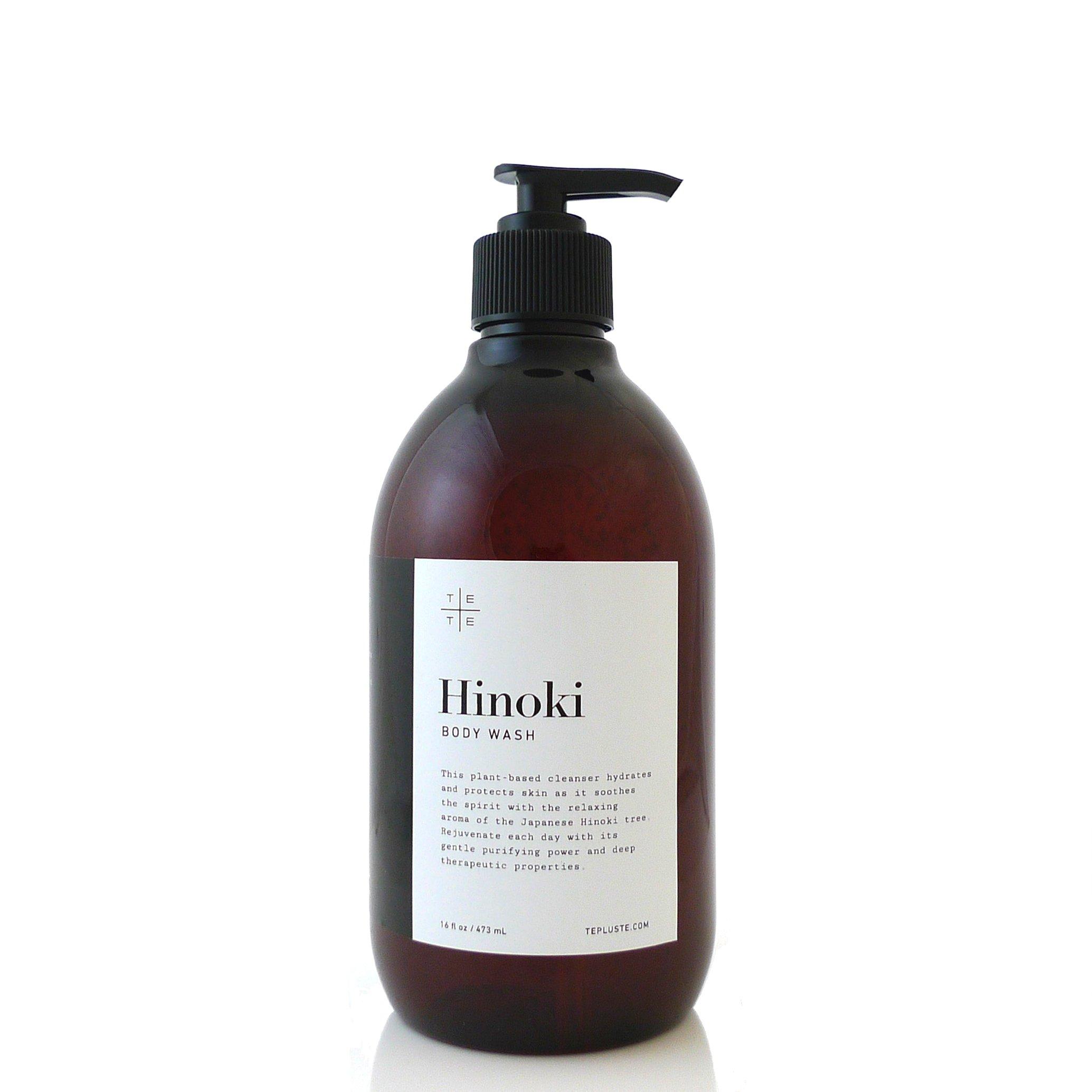 HINOKI BODY WASH made with organic ingredients by te+te 16 fl.oz. by te+te