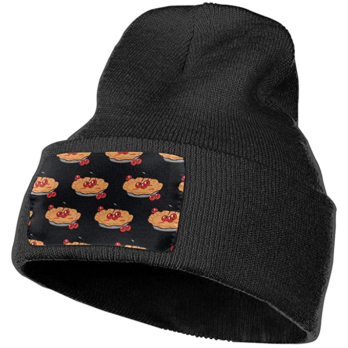 61822dac17c Apple Pie Pattern Winter Beanie Hat Warm Knit Cuff Toboggan Ski ...
