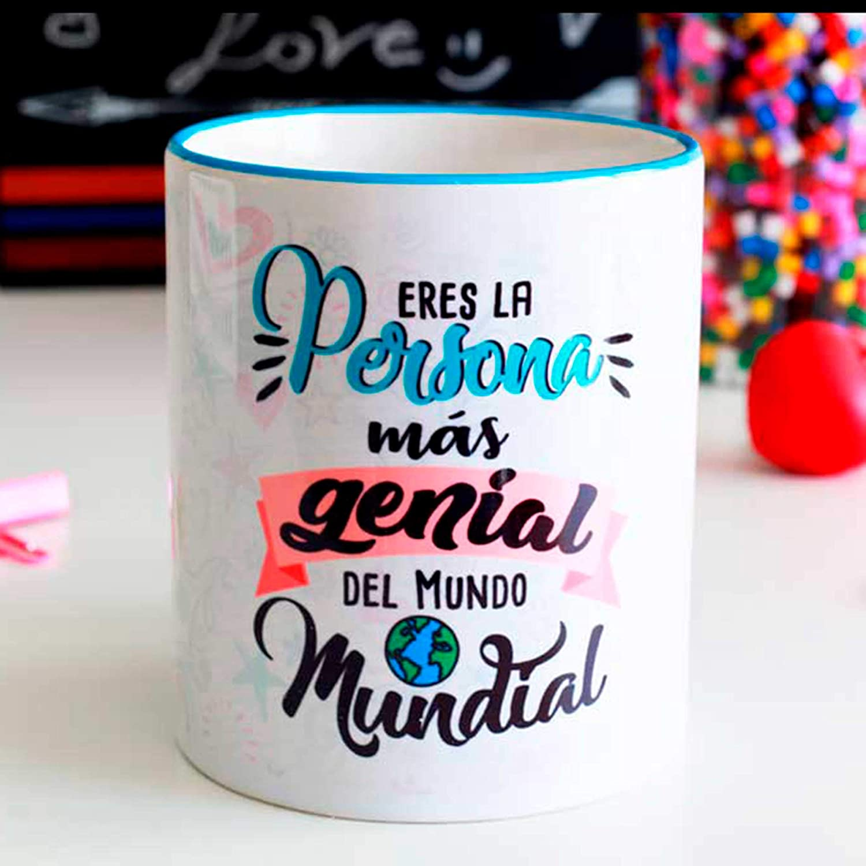 Taza amig@s persona genial: Amazon.es: Handmade