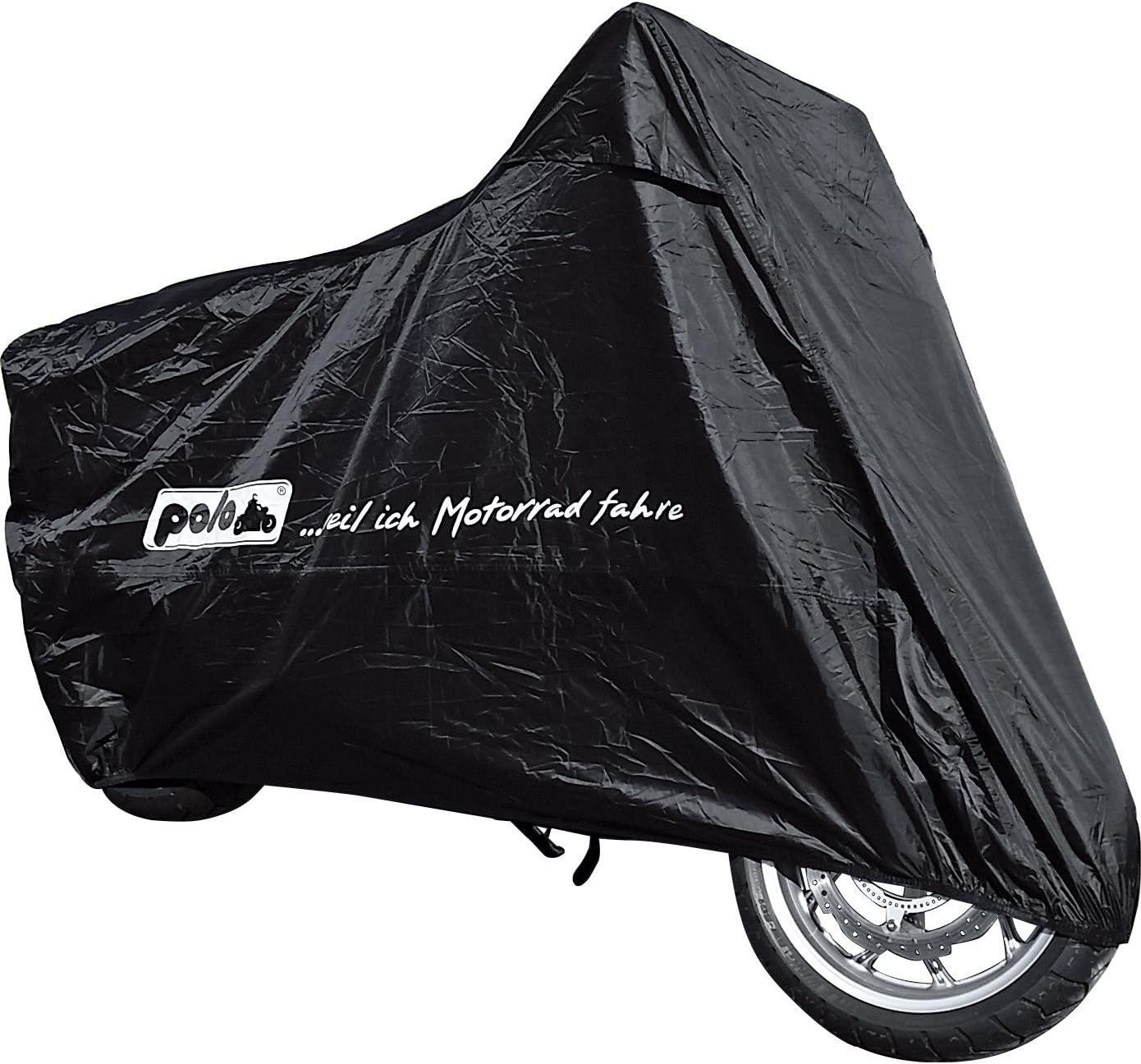 Polo Motorradabdeckung Motorradplane Motorradgarage Outdoor Abdeckplane Superdeal Universal 240 140 93 Cm Unisex Multipurpose Ganzjährig Schwarz Auto